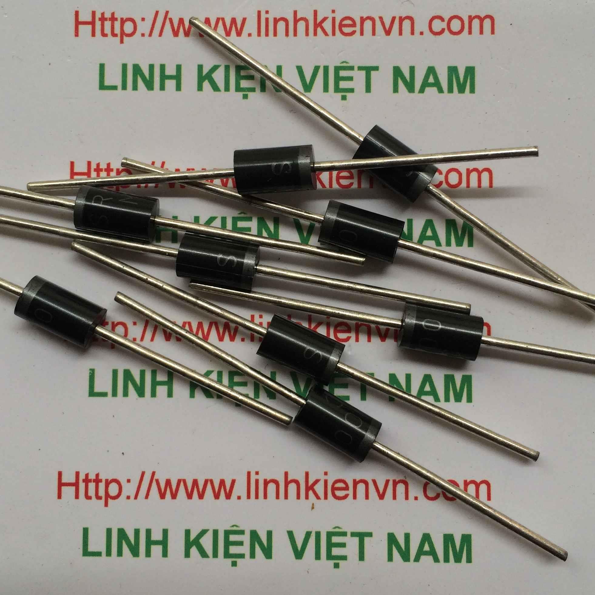 Diode chỉnh lưu 5A 100V SR5100 / Diode SR5100 - B6H12(KB3H3)