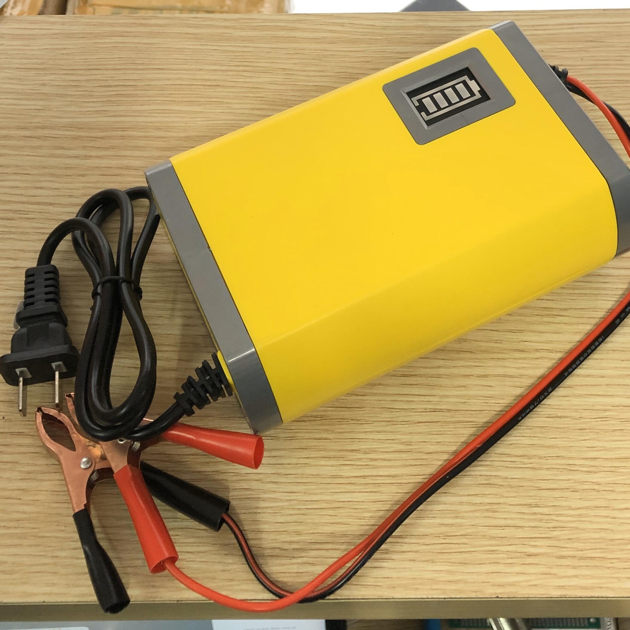 Bộ sạc Acquy 12V 6A. điện áp ra sạc 13,8V