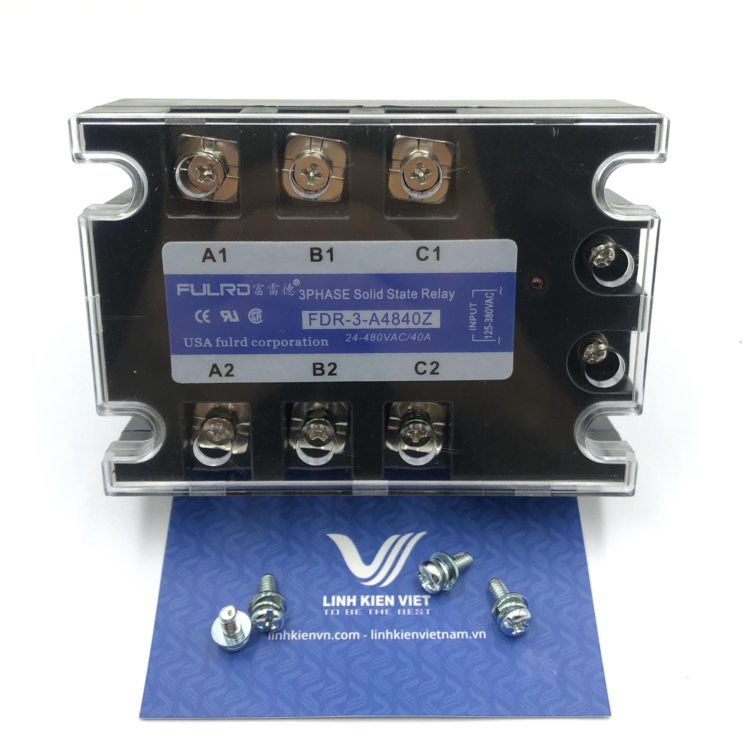 Relay bán dẫn 3 pha SSR FULRD 40A FDR3-A4840Z điện áp điều khiển 125-380VAC