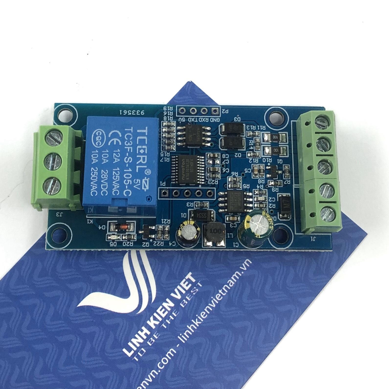 Module Relay 1 kênh giao tiếp MODBUS RTU RS485 - 5VDC / S5H4