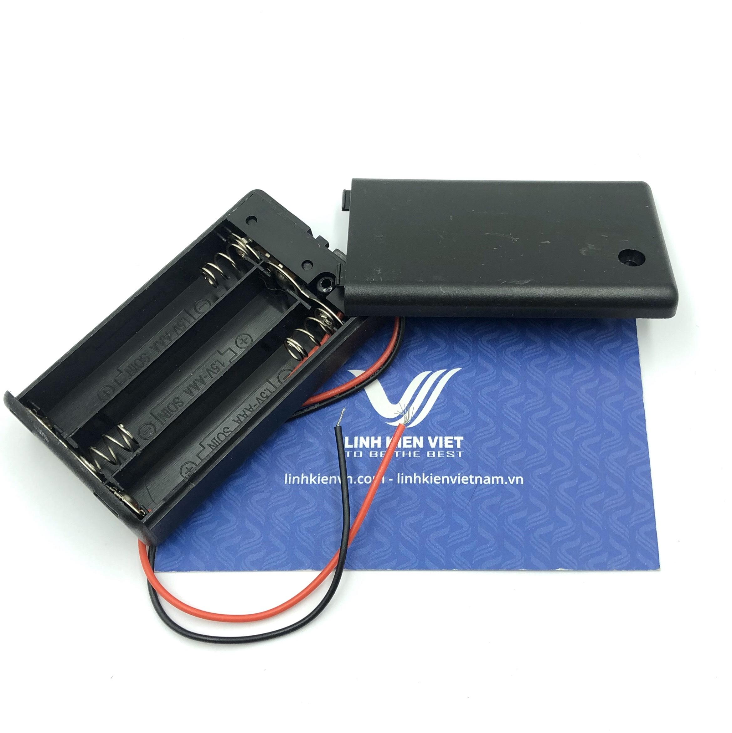 Đế pin AAA 3 pin có công tắc gạt - X3H21