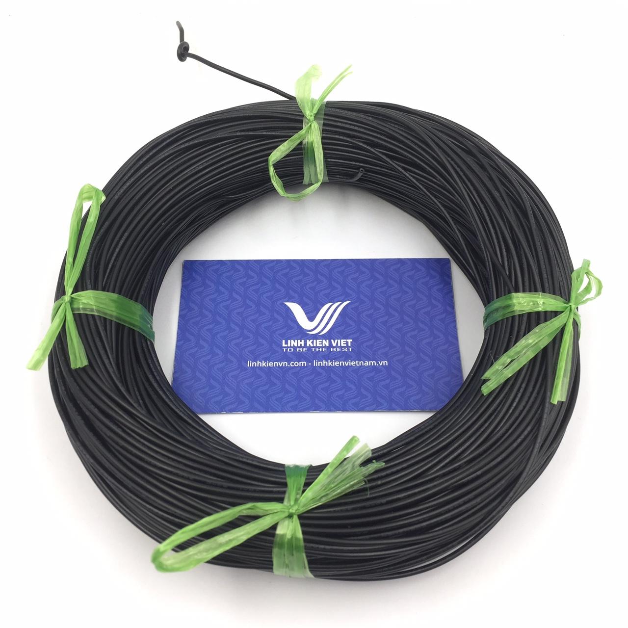 Cuộn dây điện 100m UL 1007 22AWG - màu đen