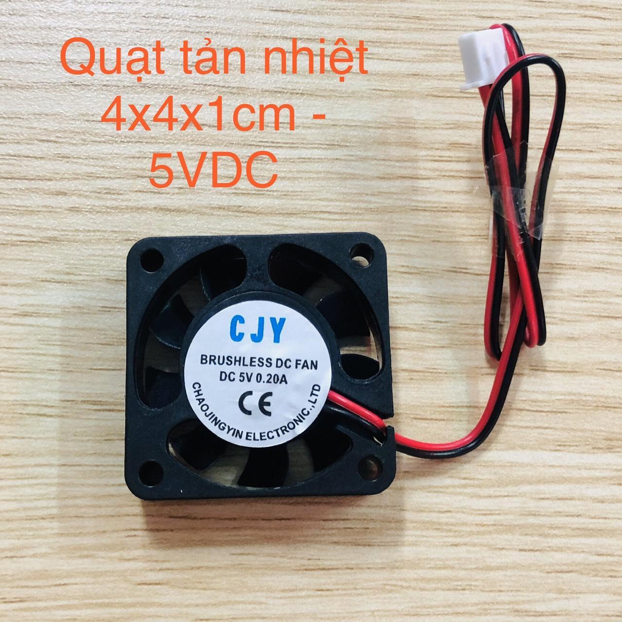 Quạt tản nhiệt 4010 5V 4x4cm 0.2A - G7H15