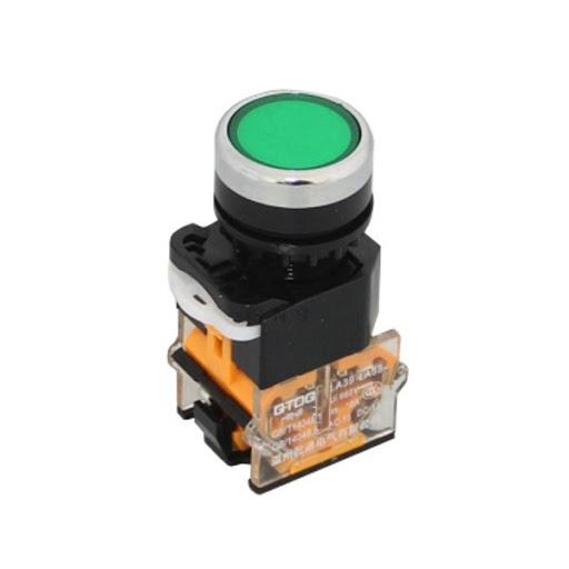 Nút nhấn LA38-11 22mm (Nhấn Nhả) màu xanh lá -J5H15