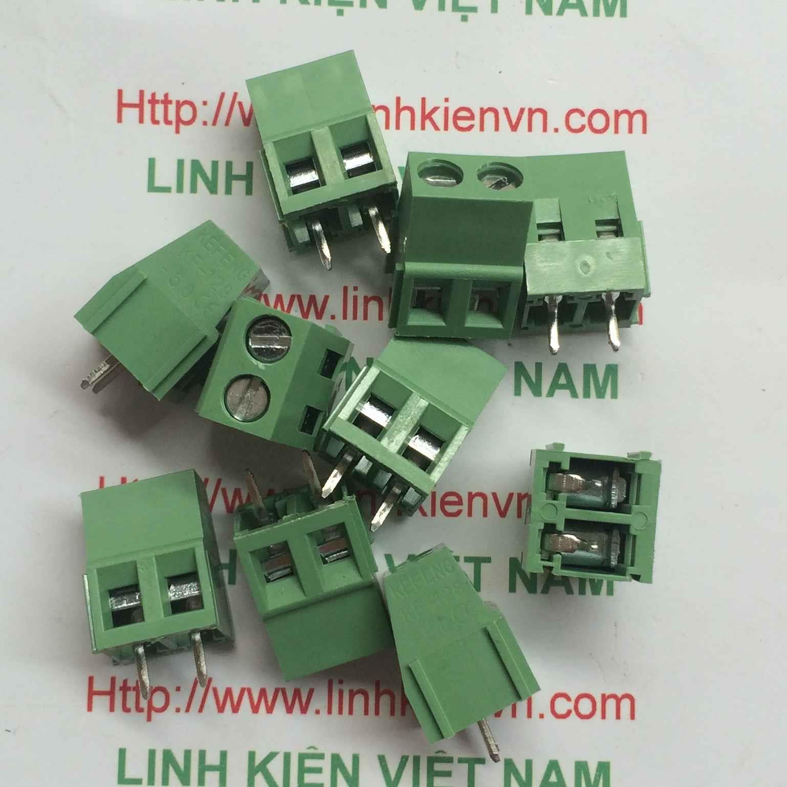 Cầu đấu 2 KF128-2P 5.08mm / Hed 2 KF128-2P - D7H3