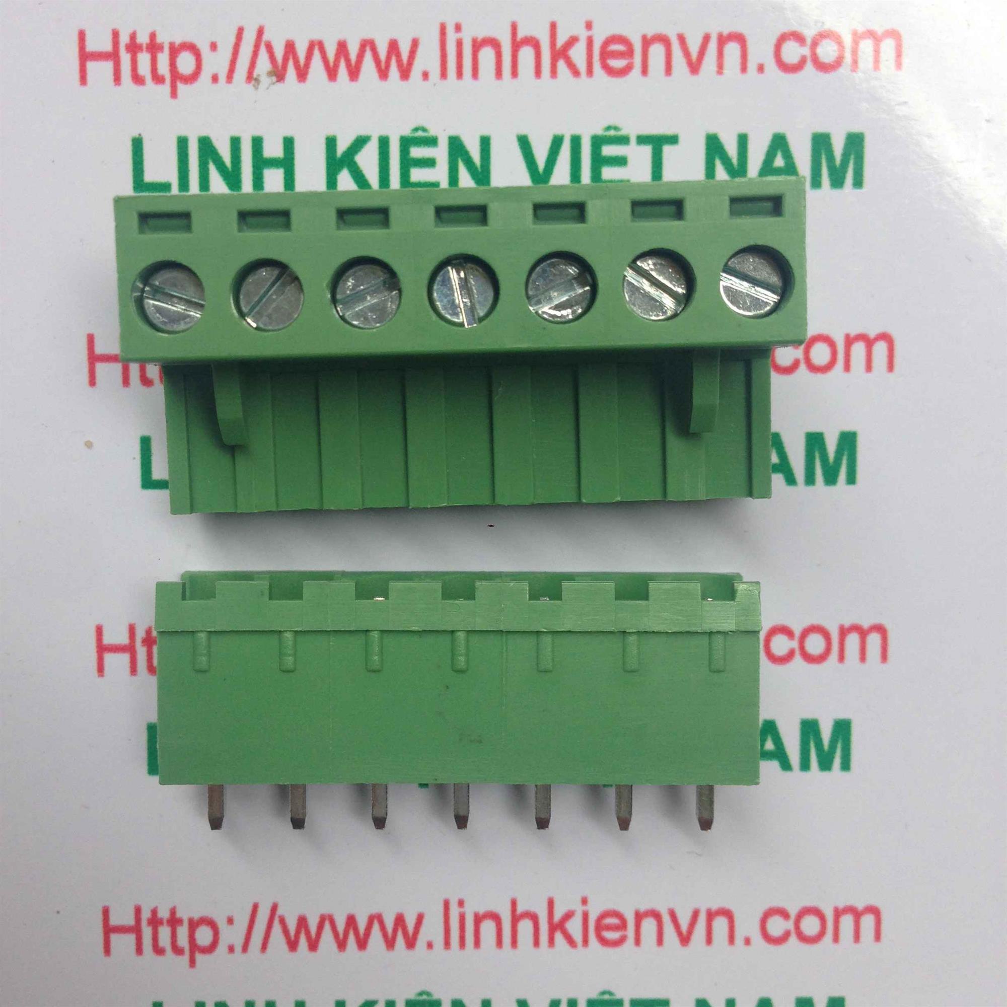 Cầu đấu 7 5.08mm EDG5.08-7P THẲNG - D8H6