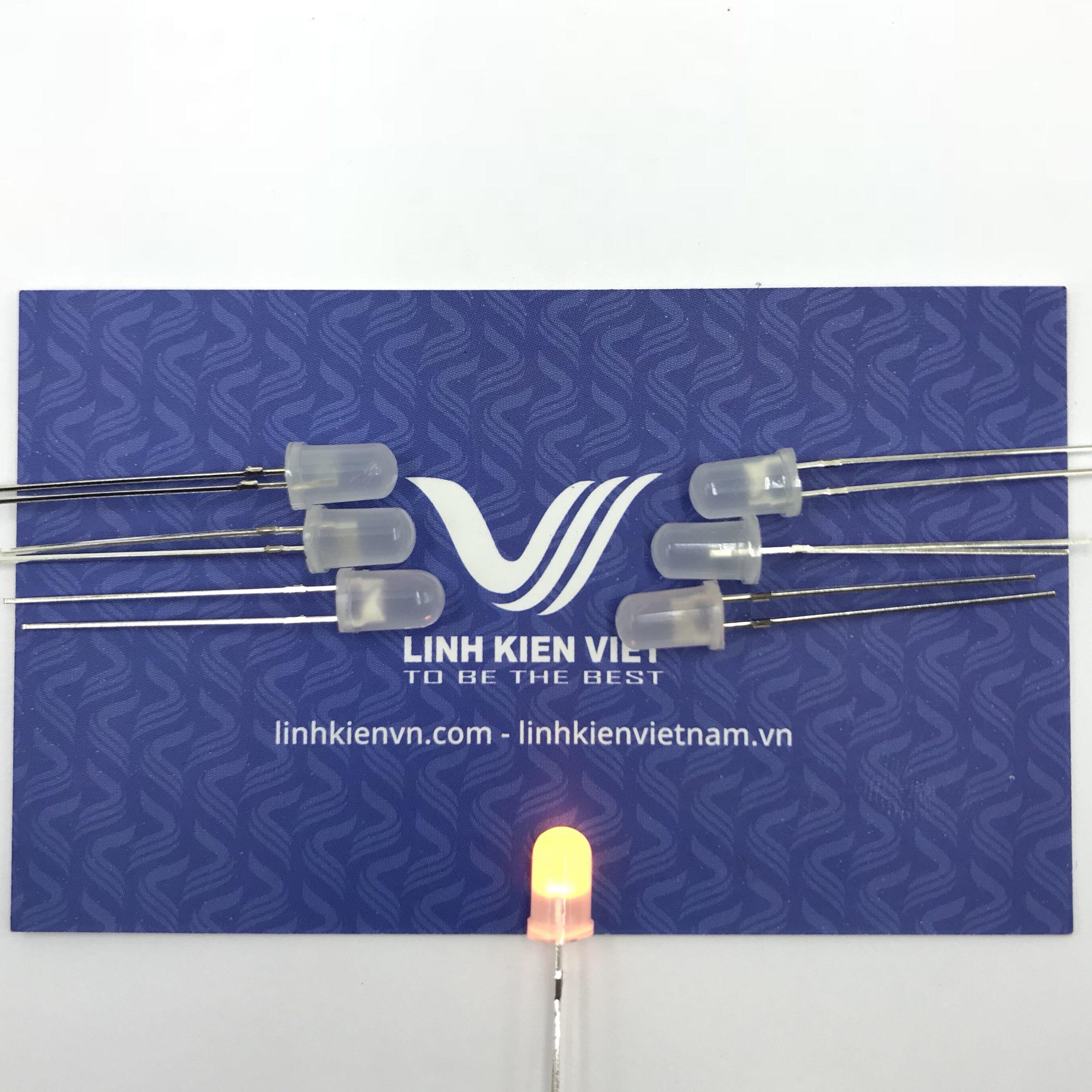 Led siêu sáng đục 5mm mầu vàng (10 chiếc) - A4H14 (KA2H1)