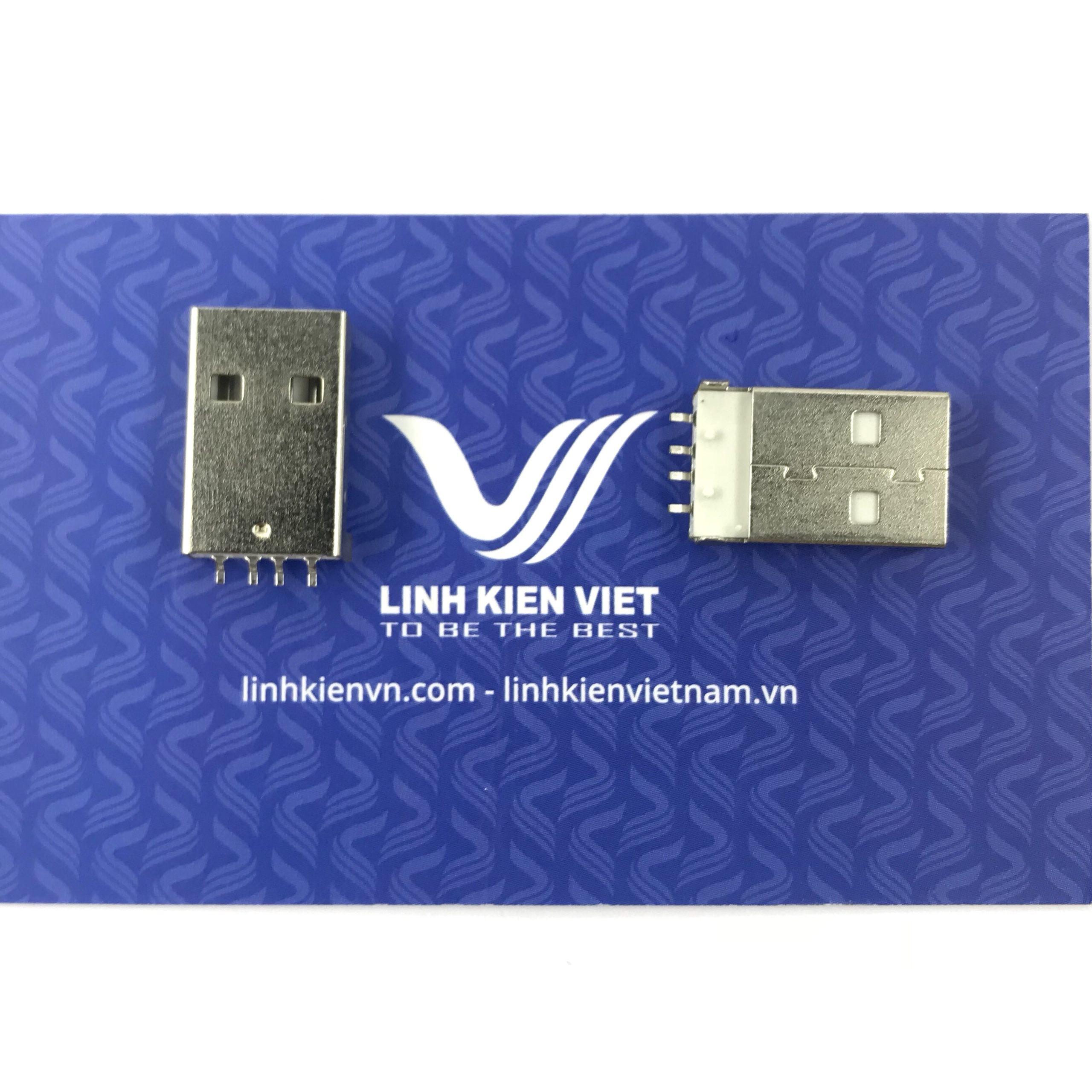 CỔNG USB A ĐỰC SMD - D4H22
