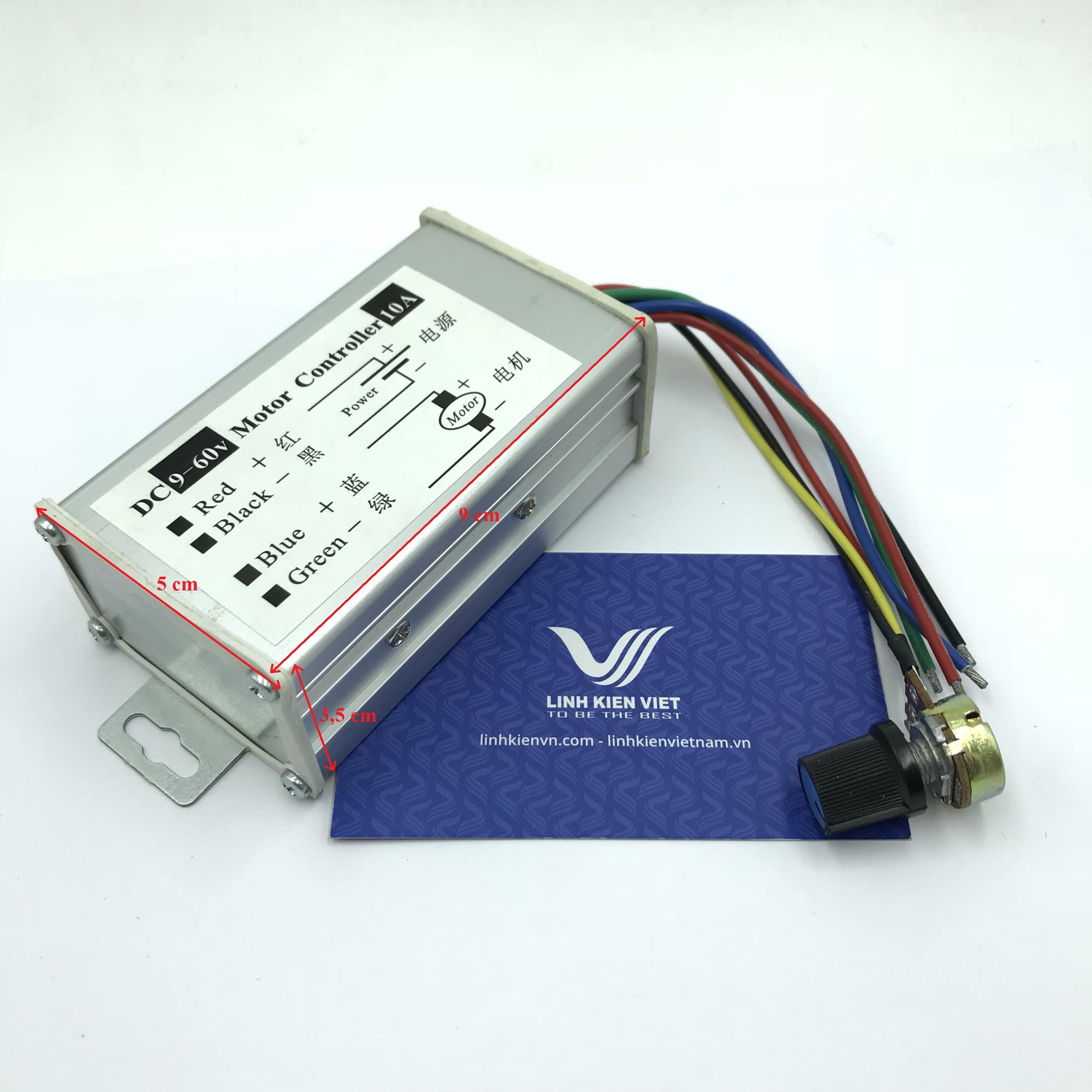Bộ điều khiển tốc độ động cơ pwm 10A 9-60V DC K2H5