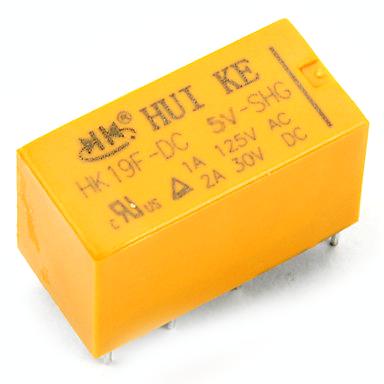 Relay 2 cặp tiếp điểm 5V 2A | Huike HK19F-DC5V-SHG - A1H2(KB4H3)