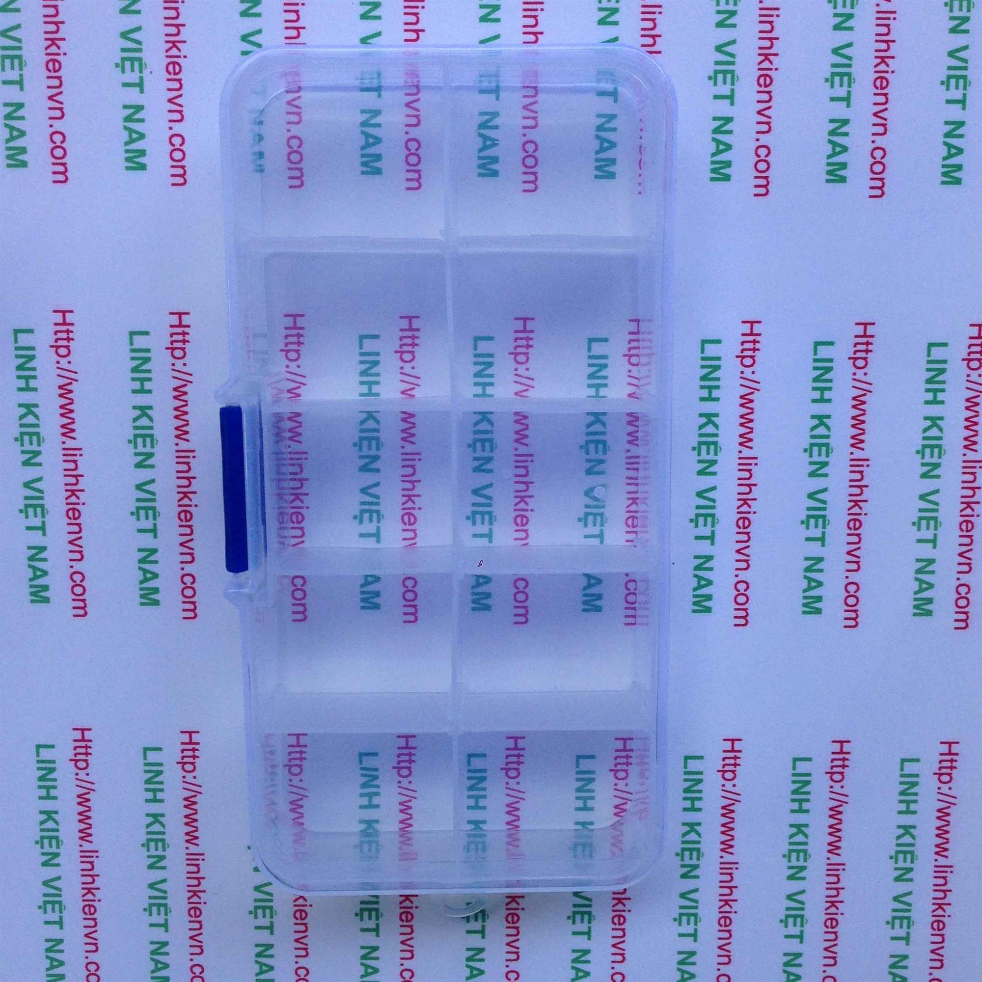 Hộp nhựa đựng linh kiện 10 ngăn 130x65mm - Kho