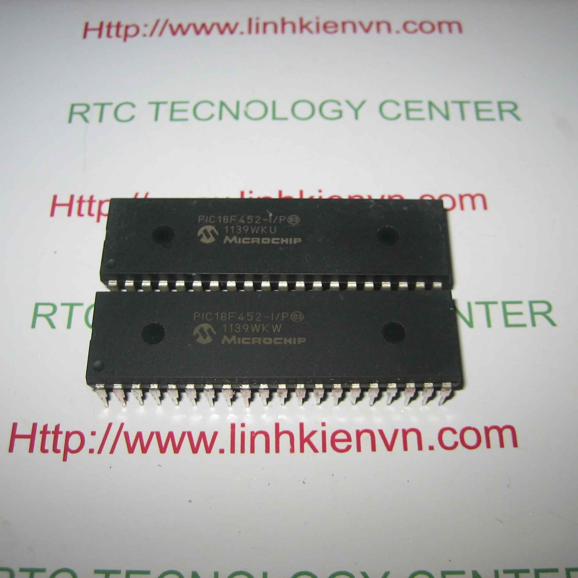 IC MCU PIC18F452-I/P DIP40 MICROCHIP - F1H7