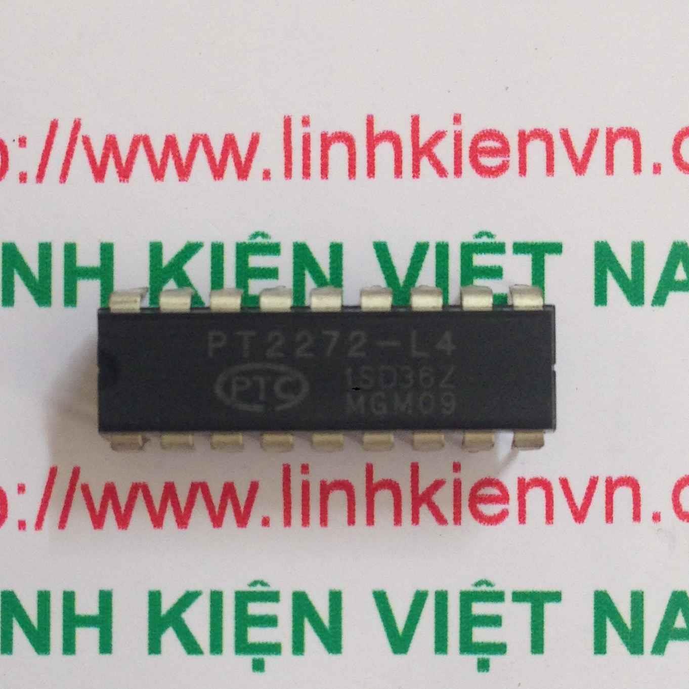 IC RF 4 Kênh PT2272 - Dip18 - F2H11