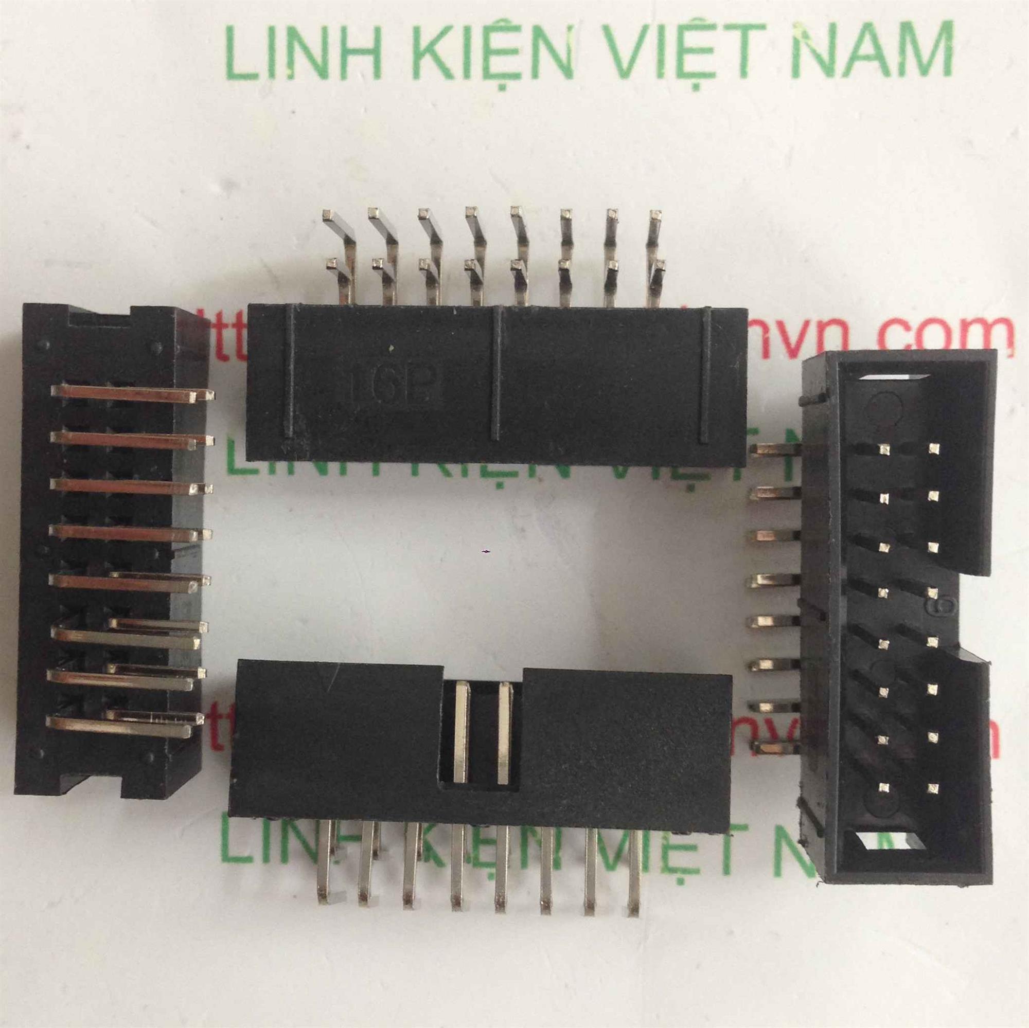 Đầu jack DC3-16p IDE ĐỰC CONG 16 chân - D10H12