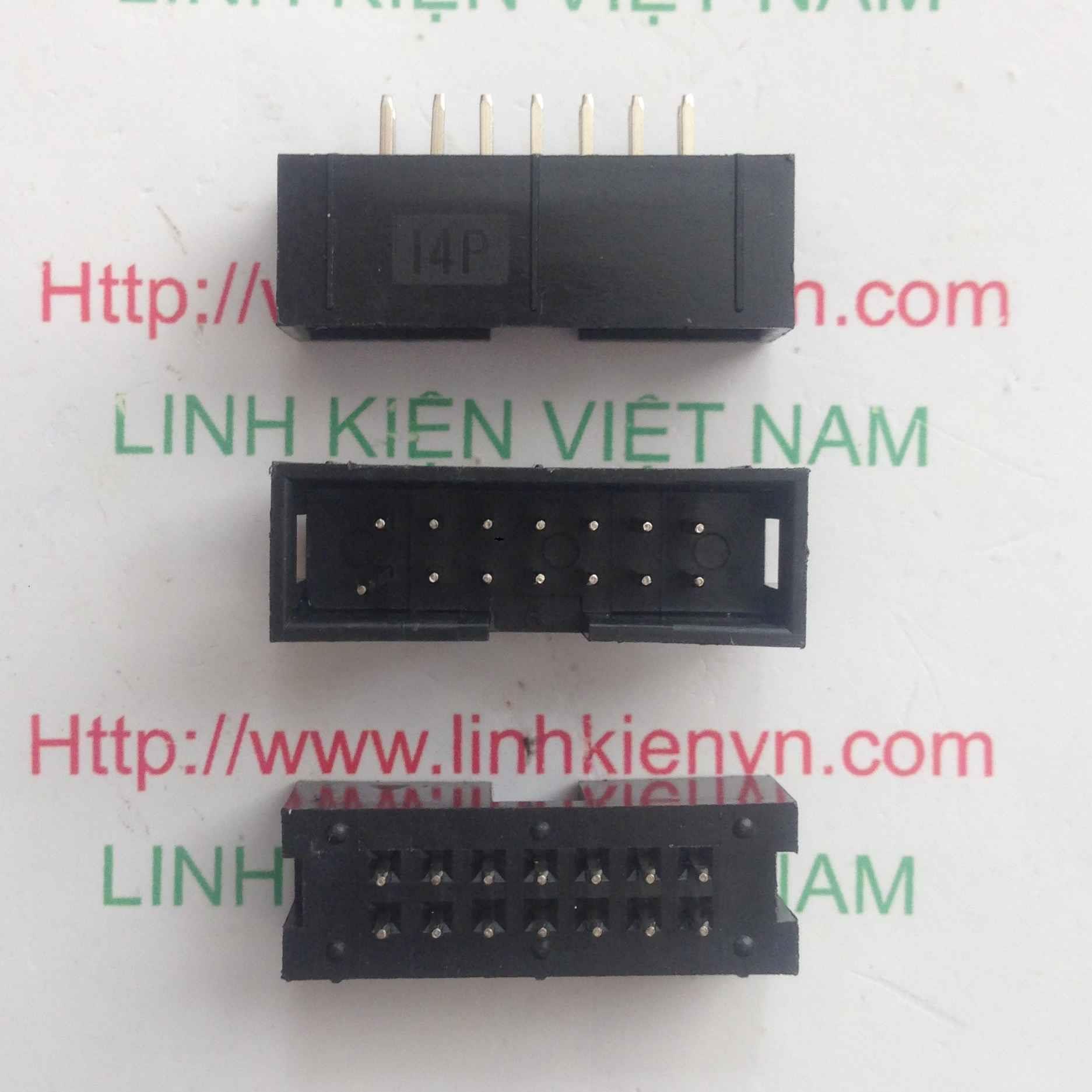 Đầu jack DC3-14p IDE ĐỰC THẲNG 14 chân - D10H2