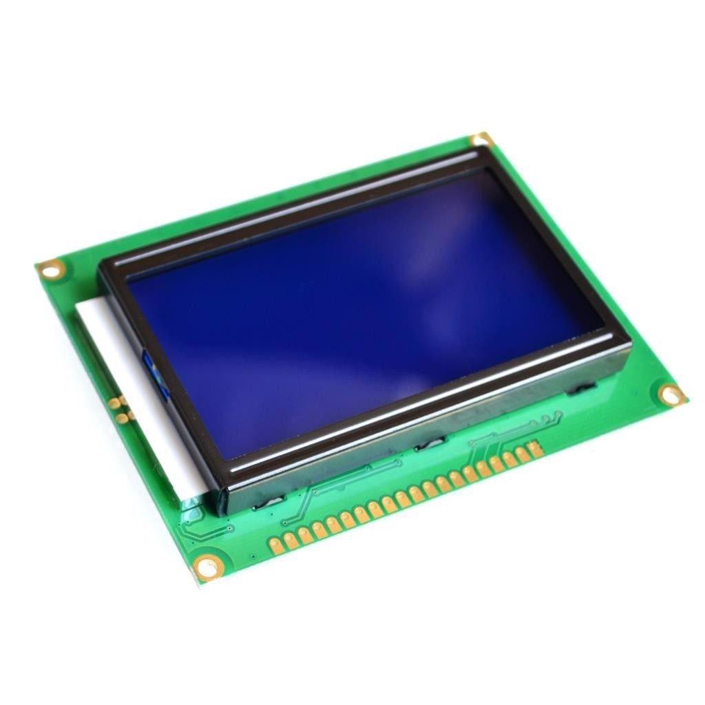 LCD 128x64 xanh dương dùng thư viện ST7920 - A3H12