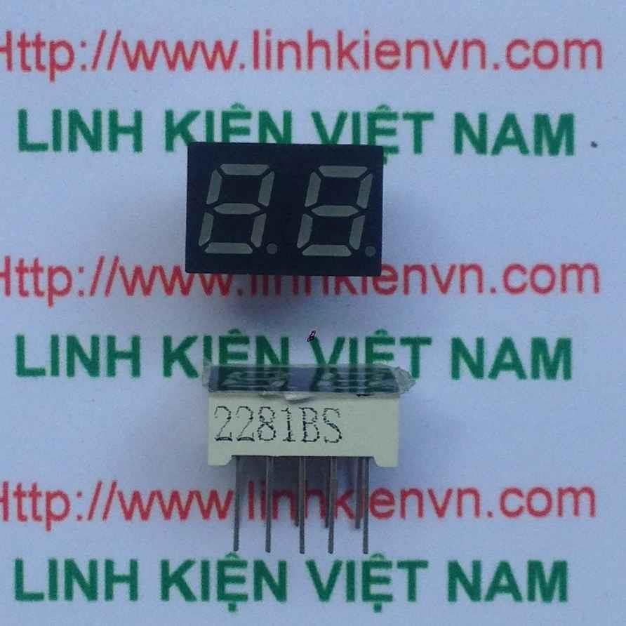 Led 7 thanh 0.28 inch 2 số anot chung màu đỏ / Led 7 thanh 0.28 Inch 2 số - G6H9