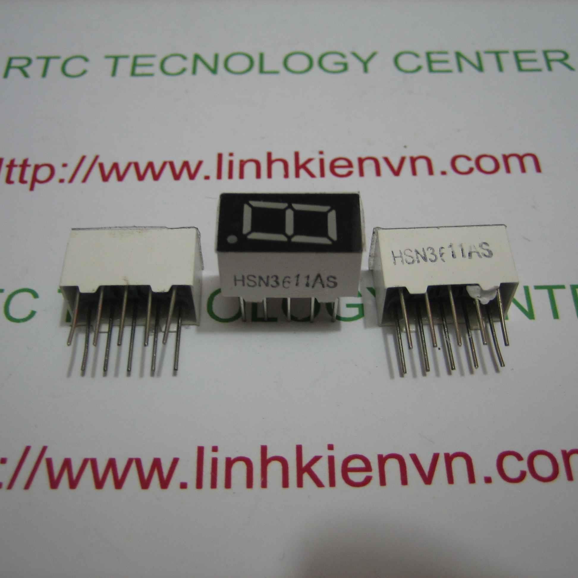 LED 7 thanh 0.36 inch 1 số anot chung màu đỏ - A3H17