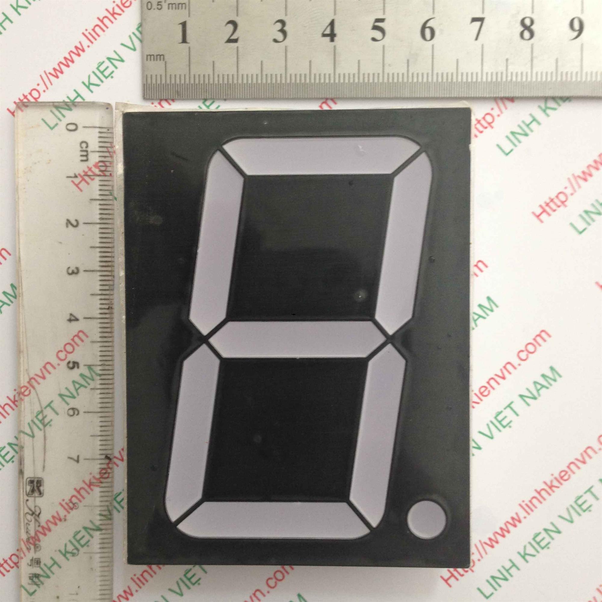 Led 7 thanh đỏ đơn 3 inch (7x9cm)/ Led 7 thanh 1 số 3inch - A2H1