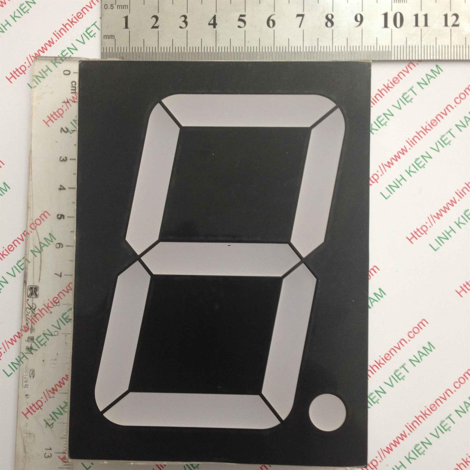 Led 7 Thanh đỏ đơn 4 inch (9cm-12cm) - A2H2