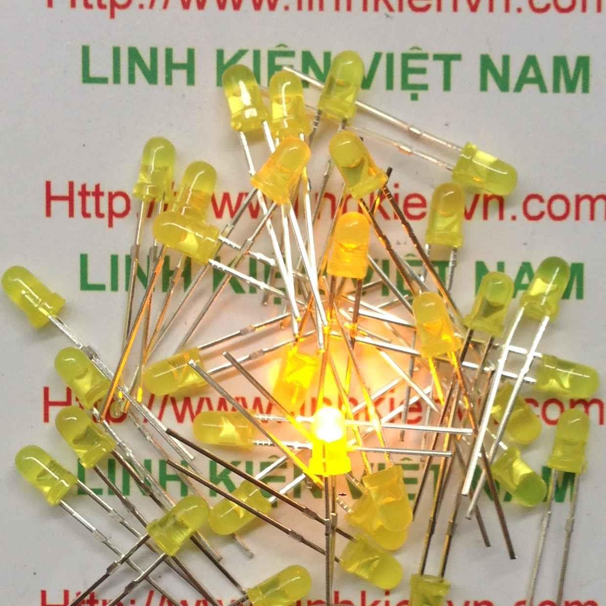 Led đơn 3mm Vàng gói 1000 con - A4H17 (KA2H1)