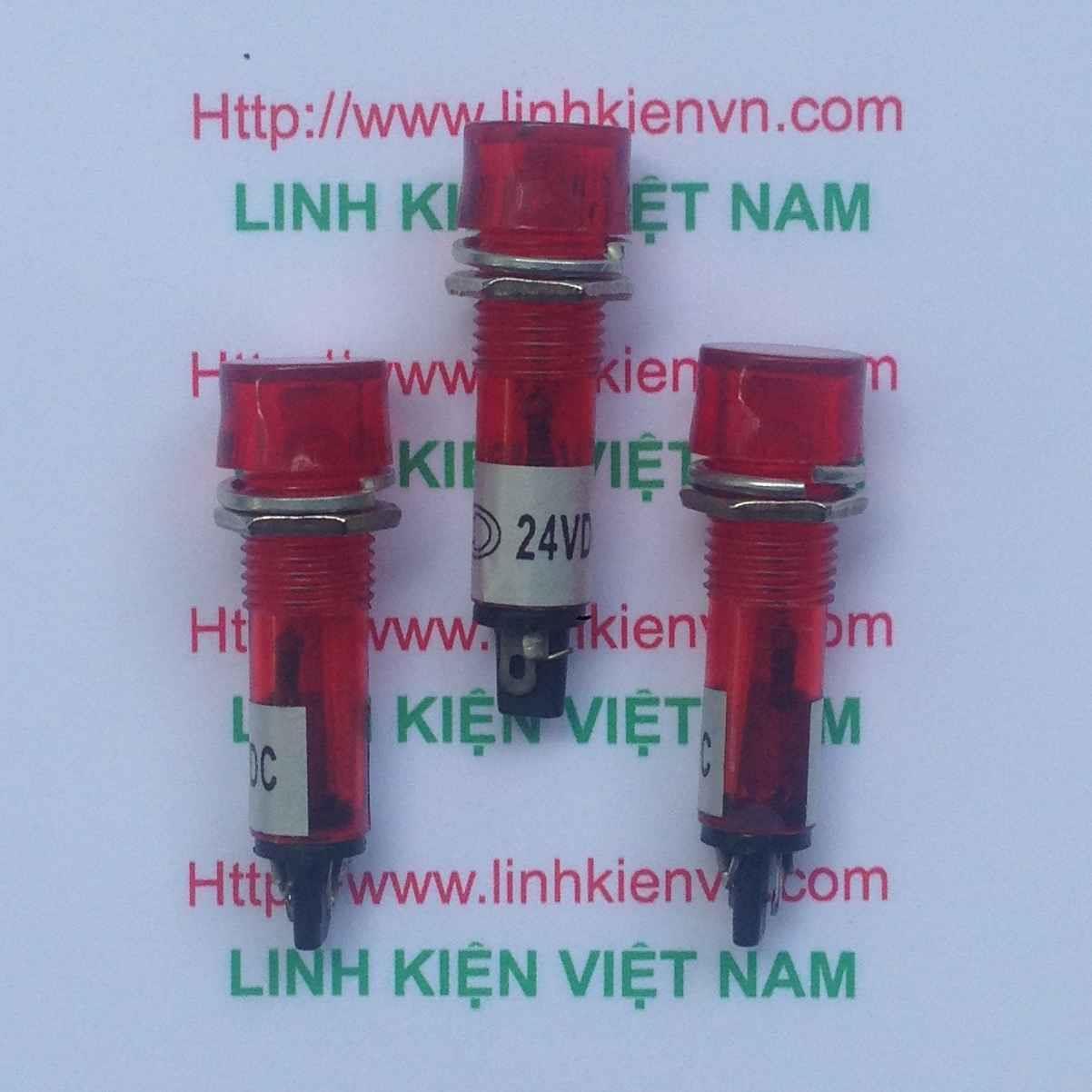 Led nguồn XD10-3 24V 10mm màu đỏ / Led tủ điện 24V / Đèn 24V - G8H13