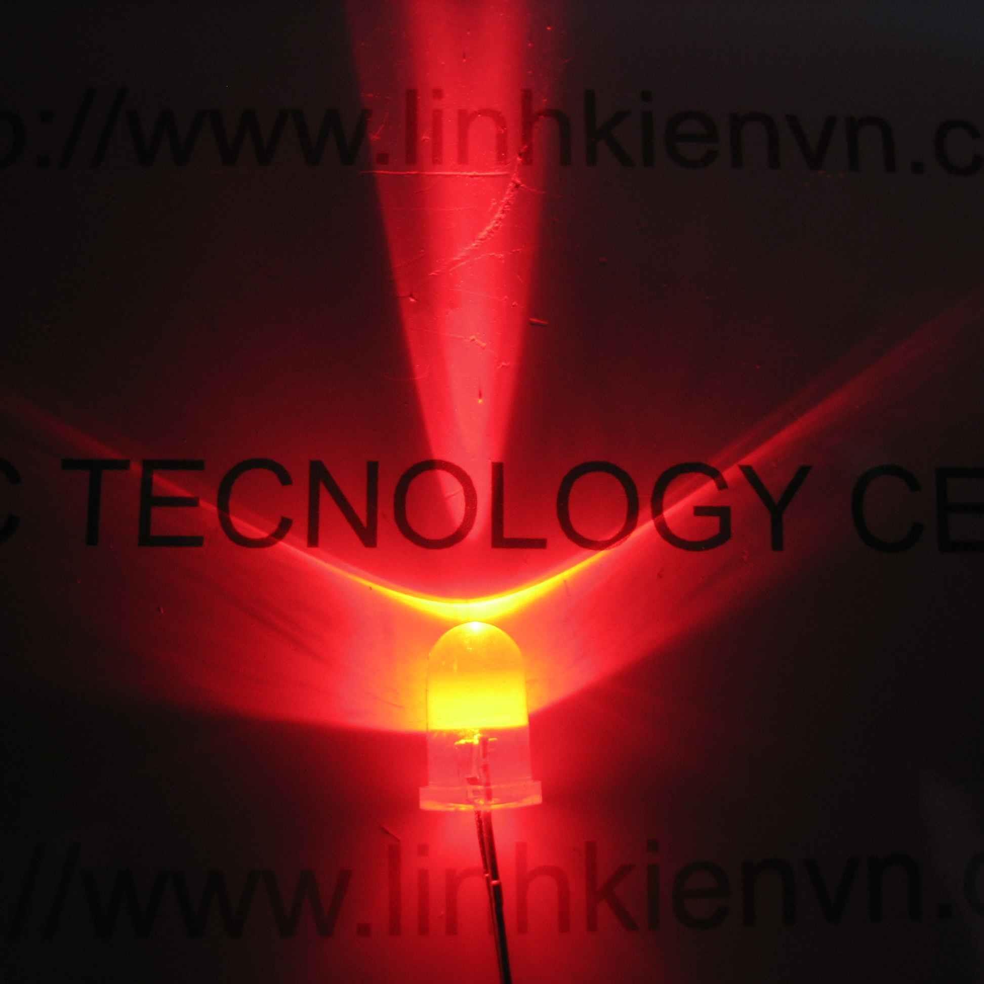 Led siêu sáng đỏ 5mm (10 chiếc) - A4H8 (KA2H1)