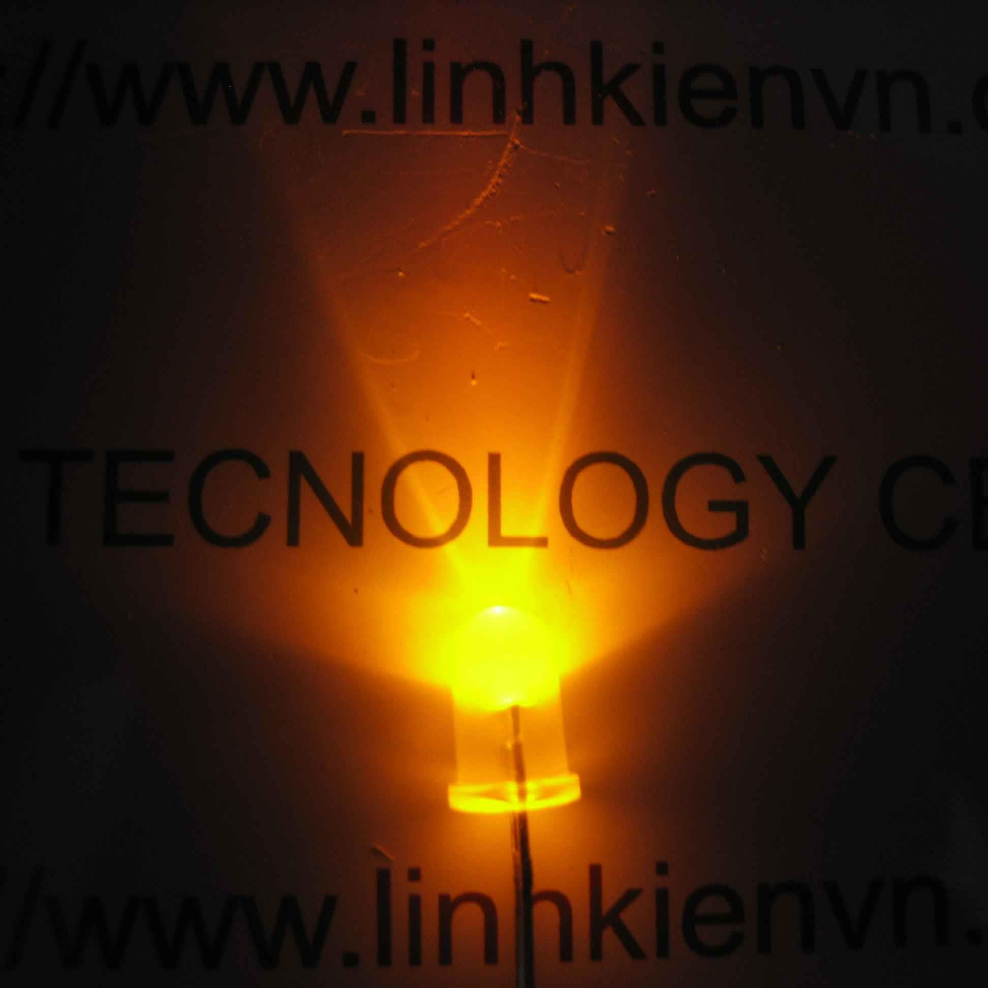 Led siêu sáng vàng 5mm (10 chiếc) - A4H13 (KA2H1)