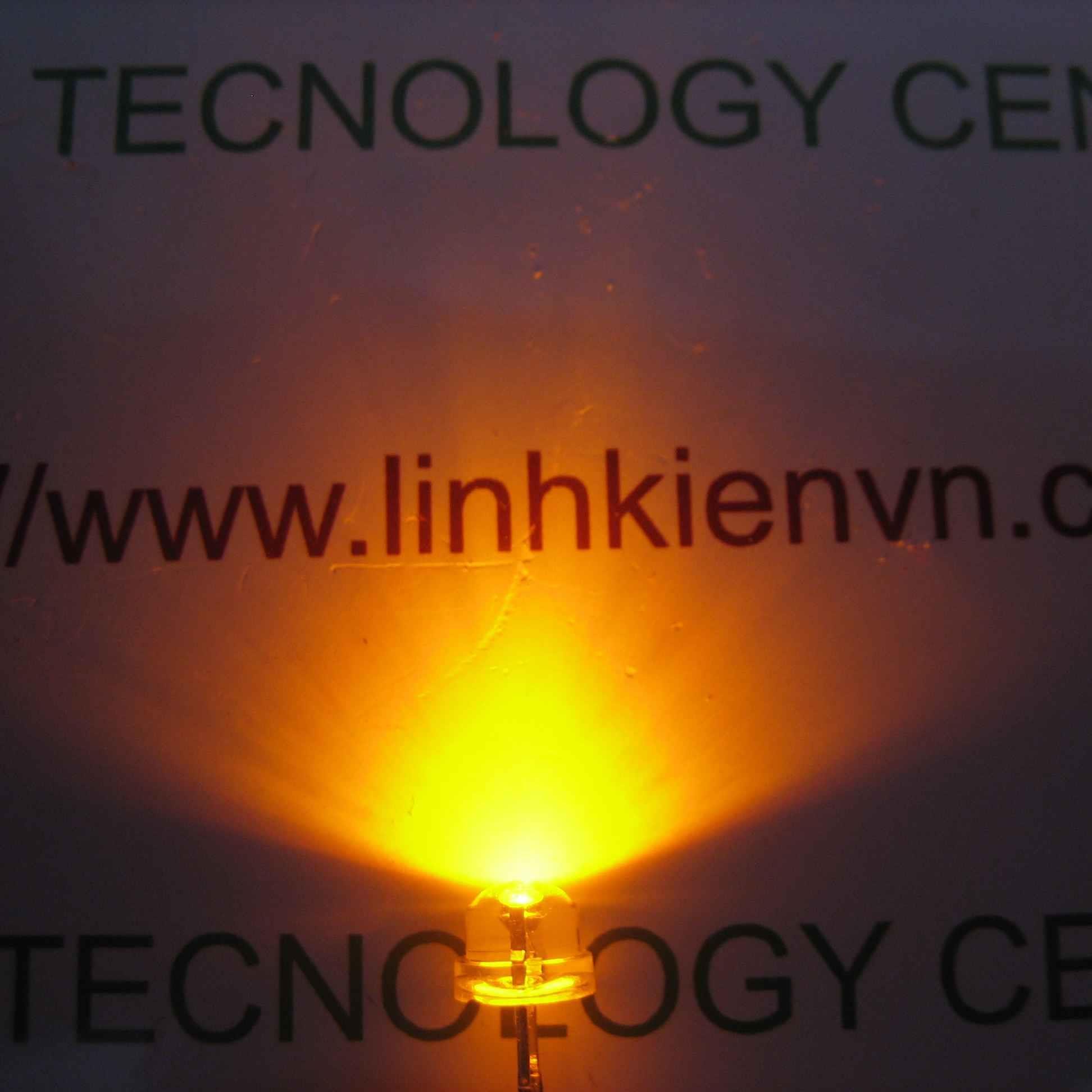 Led siêu sáng vàng lùn 5mm (10 chiếc) - A4H13 (KA2H1)