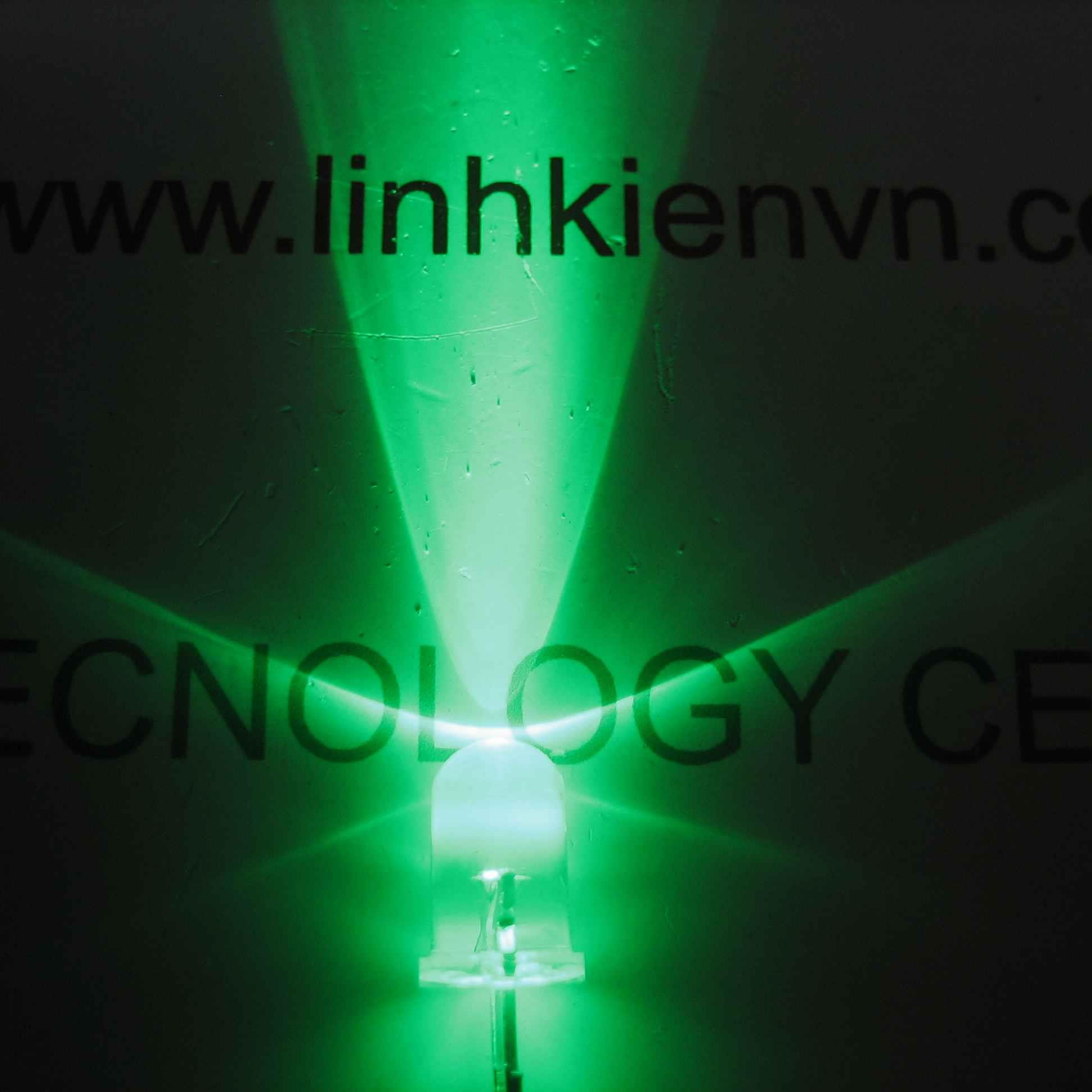 Led siêu sáng xanh lá 5mm (10 chiếc) - A5H18 (KA2H1)