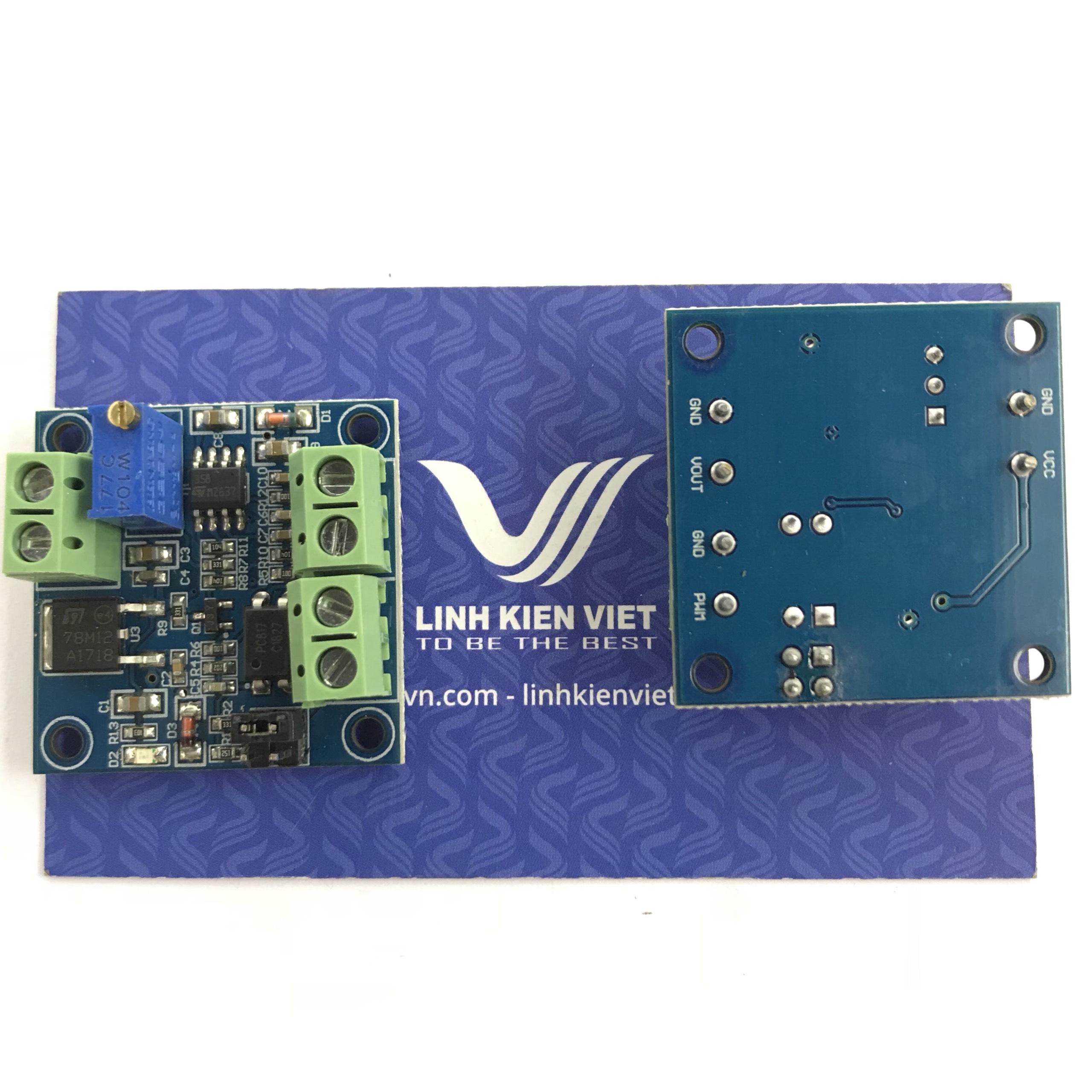 Module băm xung PWM LM358 0-100% chuyển đổi điện áp 0-10V - X5H14