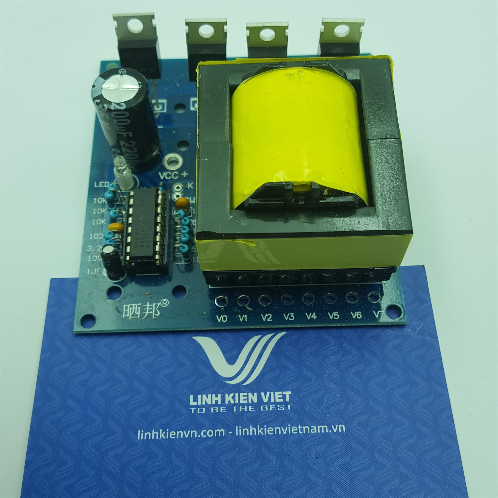 Mạch chuyển đổi điện áp DC-AC Inverter 12VDC - 18VAC, 220VAC, 380VAC / Mạch tăng áp- J1H18