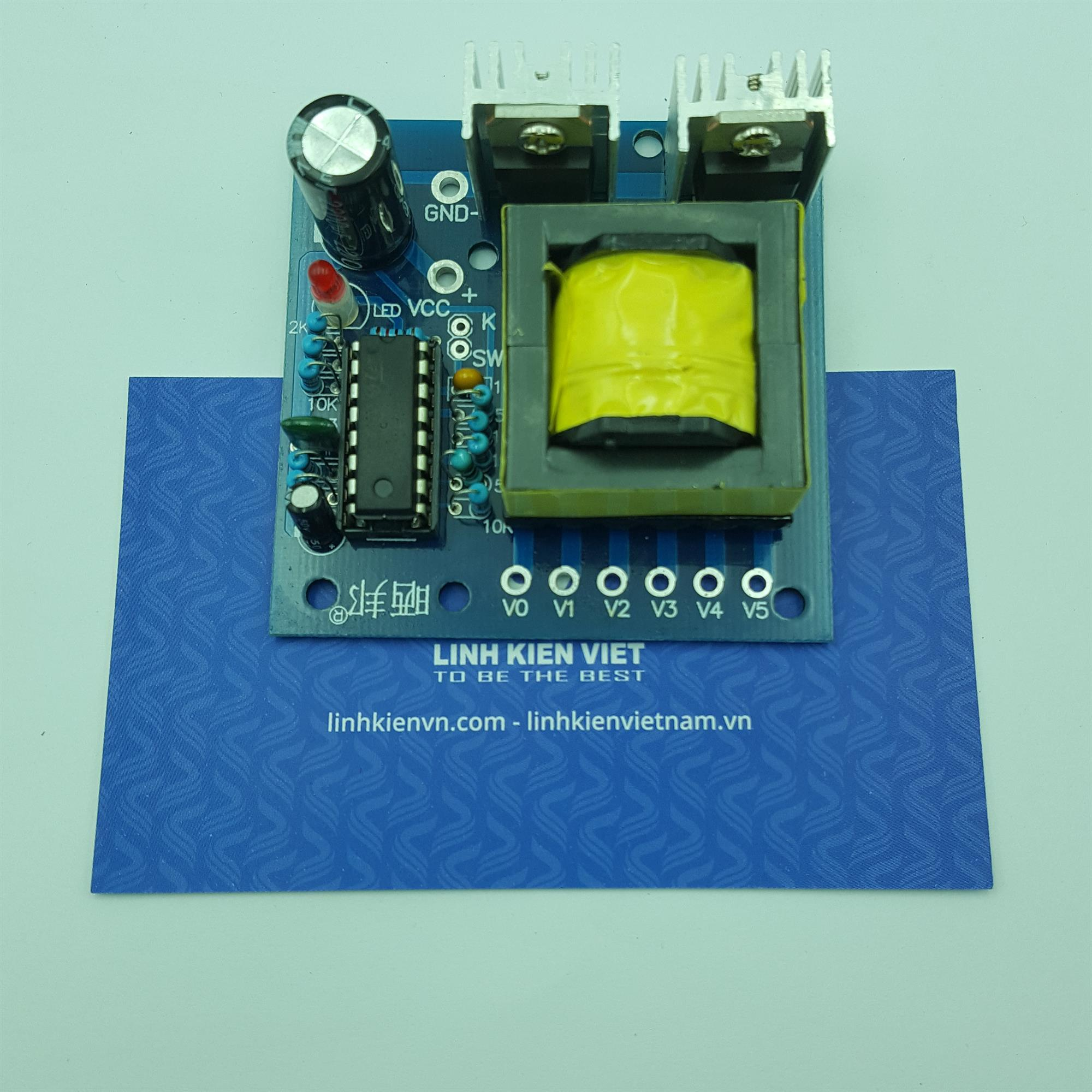 Mạch chuyển đổi điện áp inverter 12V ra 220VAC 150W/ Mạch tăng áp - X5H1
