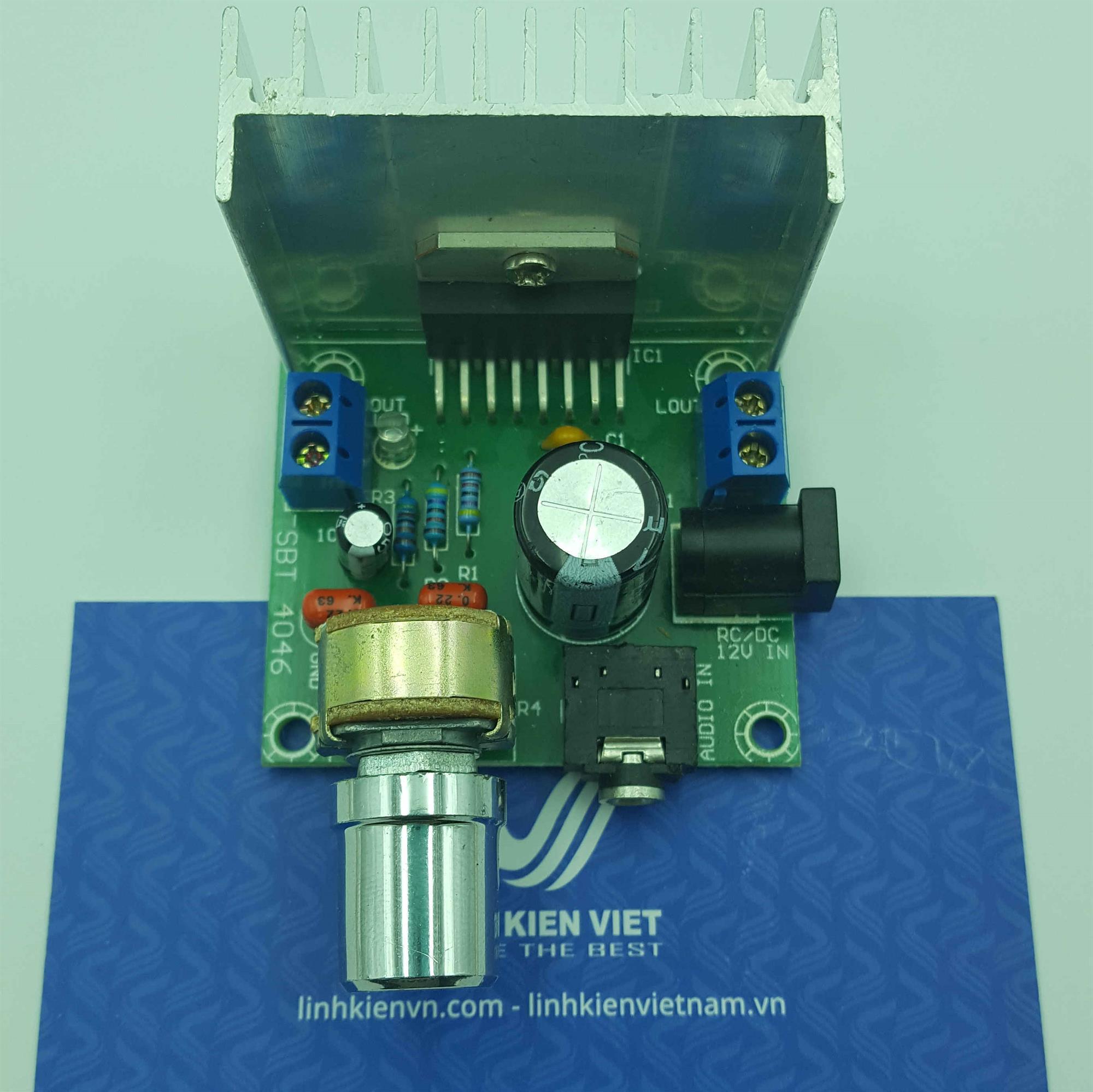 Mạch khuếch đại TDA7297 12V 15W x 2 / Module Audio TDA7297 15W+15W 12VDC - J1H11