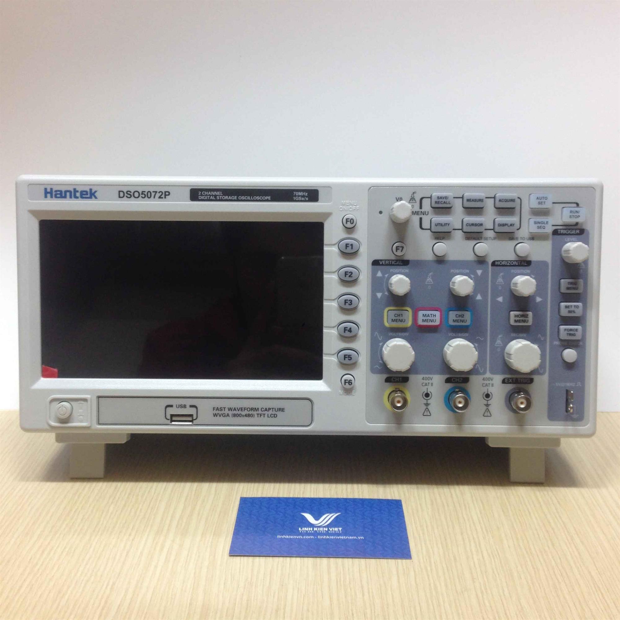Máy hiện sóng Hantek DSO5072P 2 kênh dải đo 70Mhz - Digital Oscilloscope DSO5072P