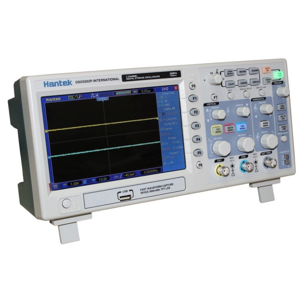 Máy hiện sóng Hantek DSO5202P 2 kênh dải đo 200Mhz - Digital Oscilloscope DSO5202P 200MHZ