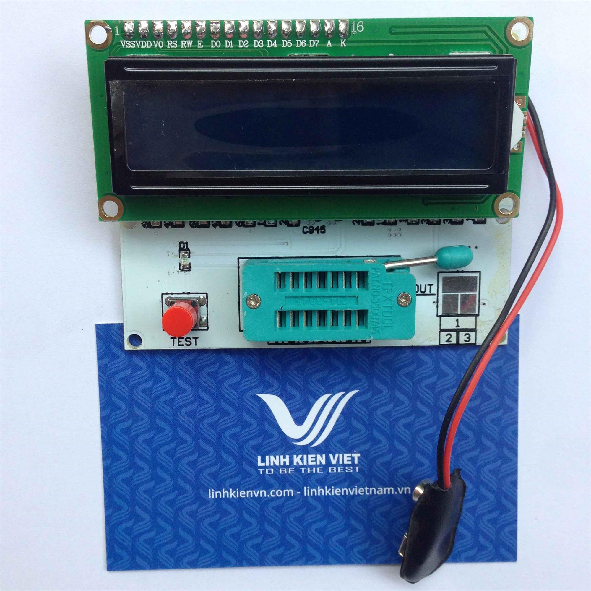 Máy kiểm tra linh kiện đa năng LCD1602 / Module kiểm tra linh kiện RLC / Máy đo linh kiện - I1H17