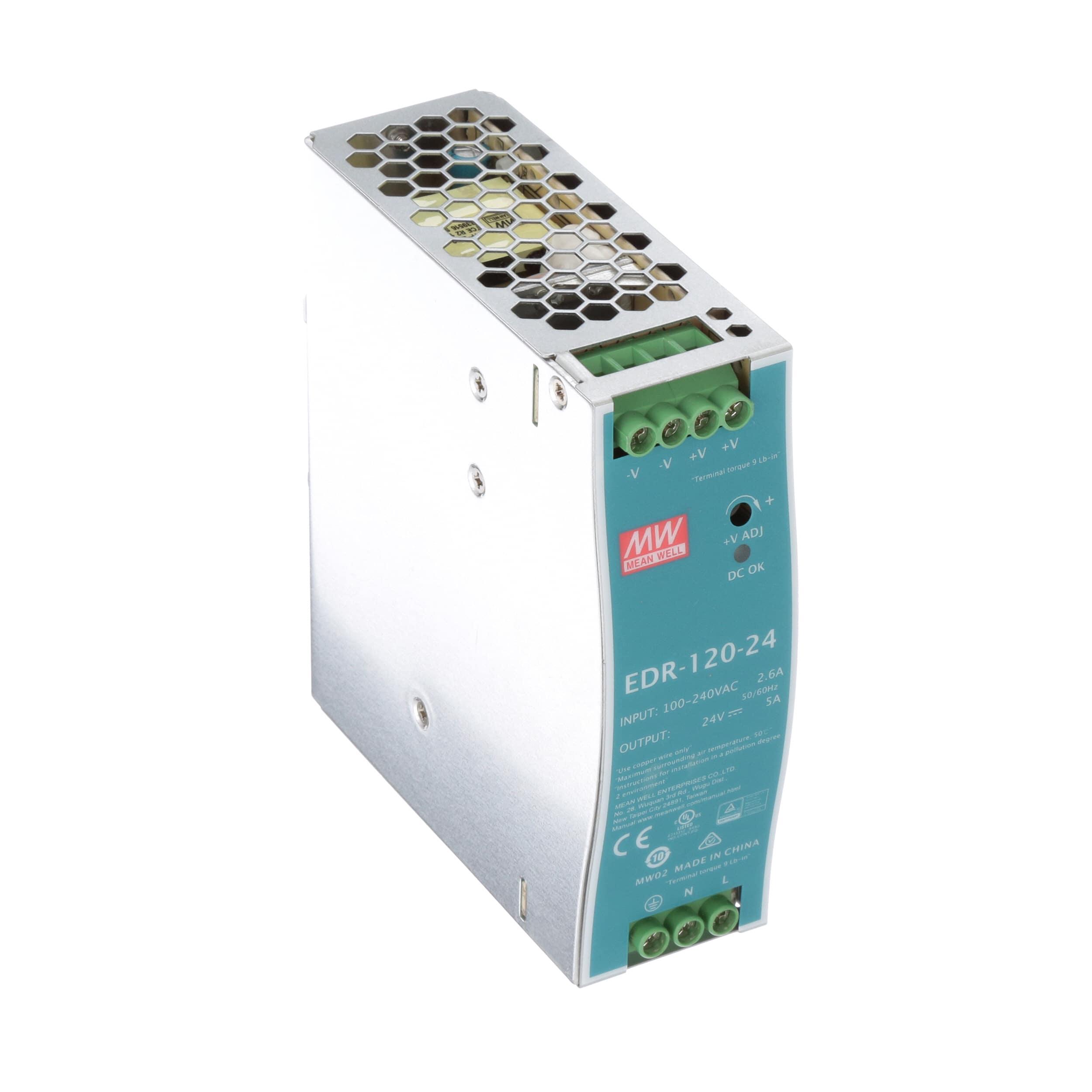 Nguồn tổ ong MEANWELL 24V 5A / EDR-120-24 có chỗng nhiễu lắp cho tủ điện
