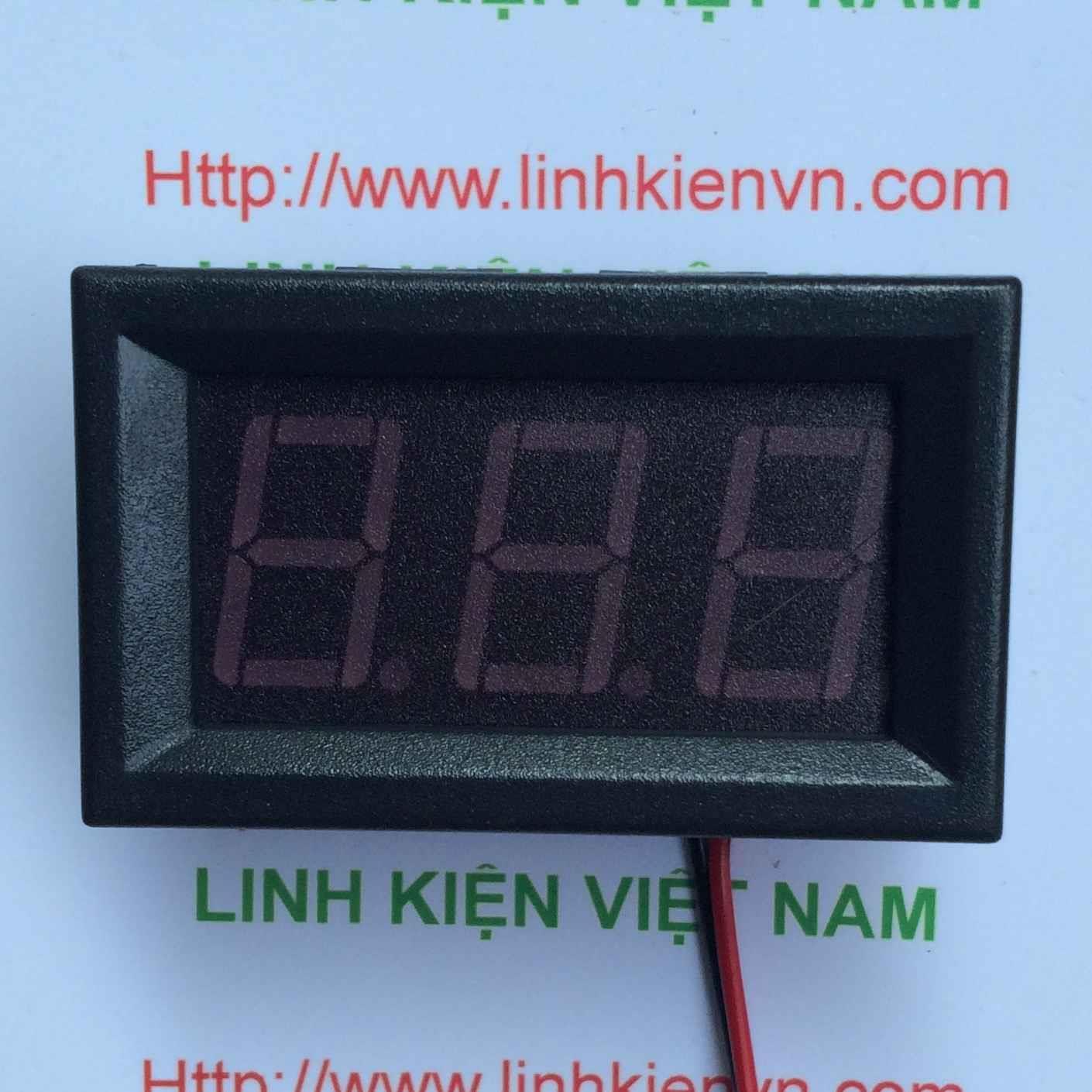 Vôn kế Đo Hiển Thị Điện Áp 0-100V DNS-DVM-568HV / Module Đo Hiển Thị Điện Áp bằng 2 dây - G1H18