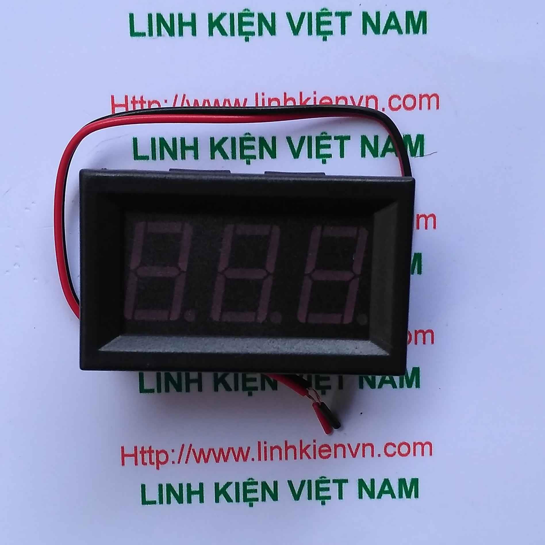Vôn kế đo hiển thị điện áp 2 dây AC220V 70V-500V / Module đo hiển thị điện áp bằng hai dây - G1H14