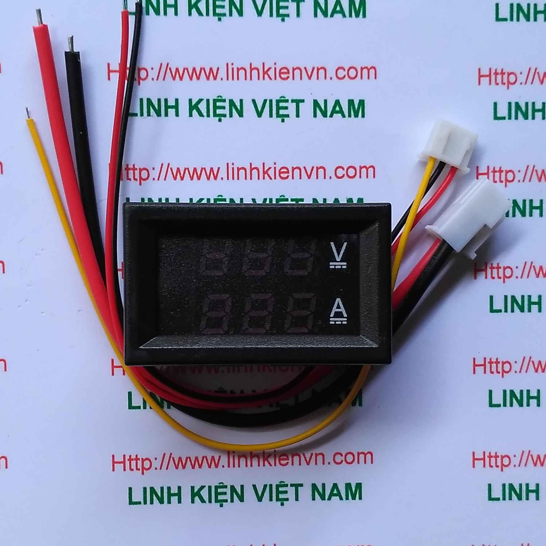 Module hiển thị dòng điện và điện áp VC288 100V 10A /Vôn kế - Ampe kế - G1H13