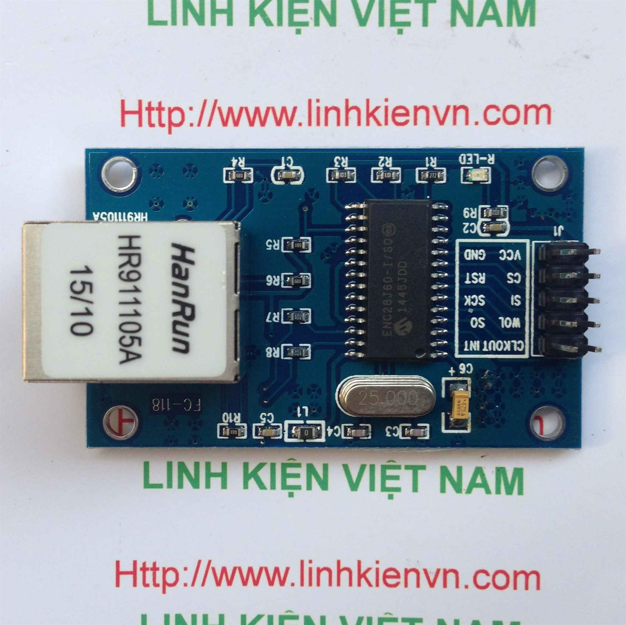 Module Ethernet ENC28J60 - B2H18
