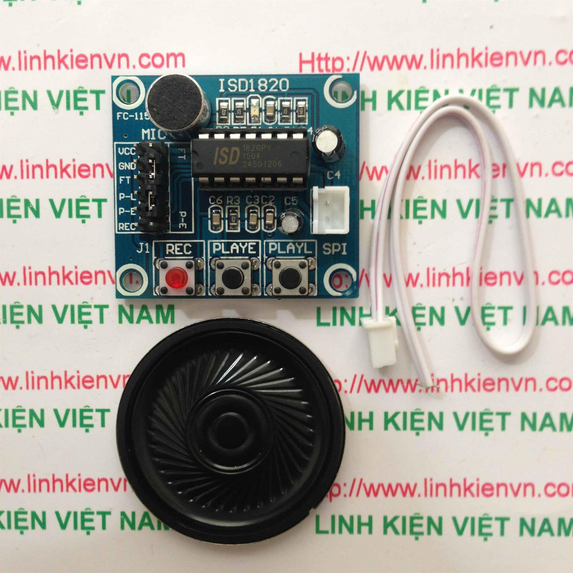 Module Ghi Âm ISD1820 ISD1821 - B2H19