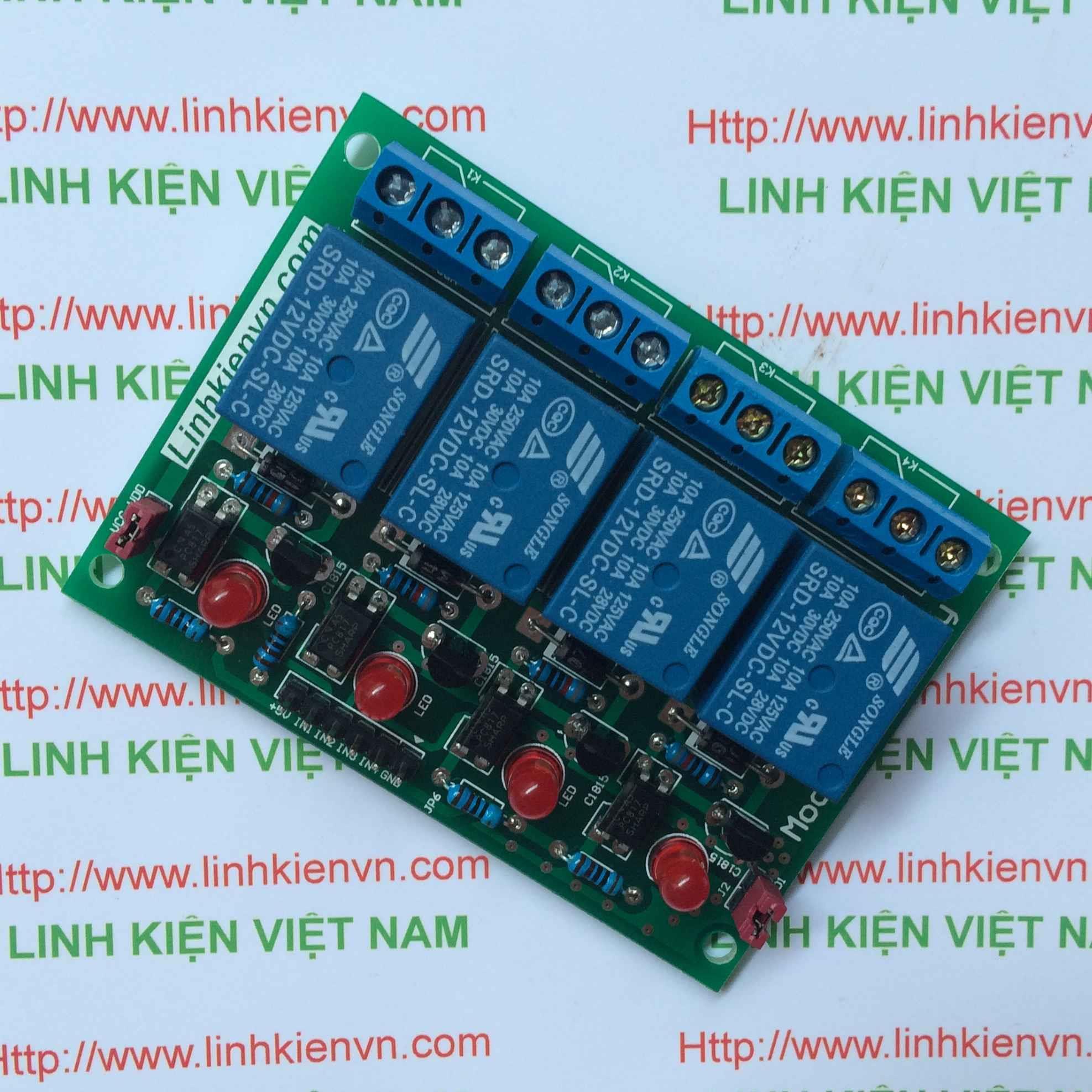 Module Relay 4 Kênh 12V-220V/10A - B1H16