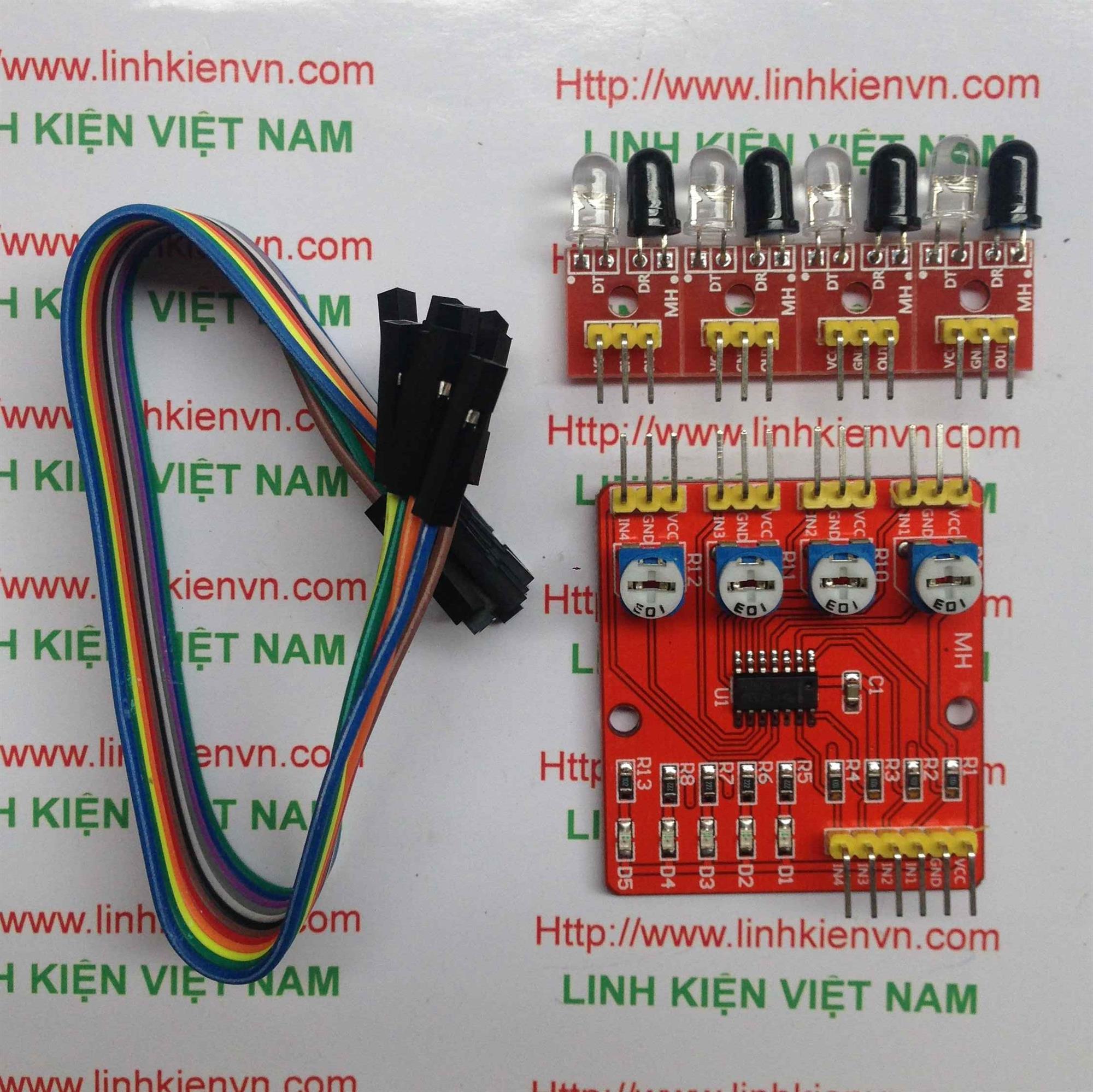 Module thu phát hồng ngoại 4 kênh - B2H16