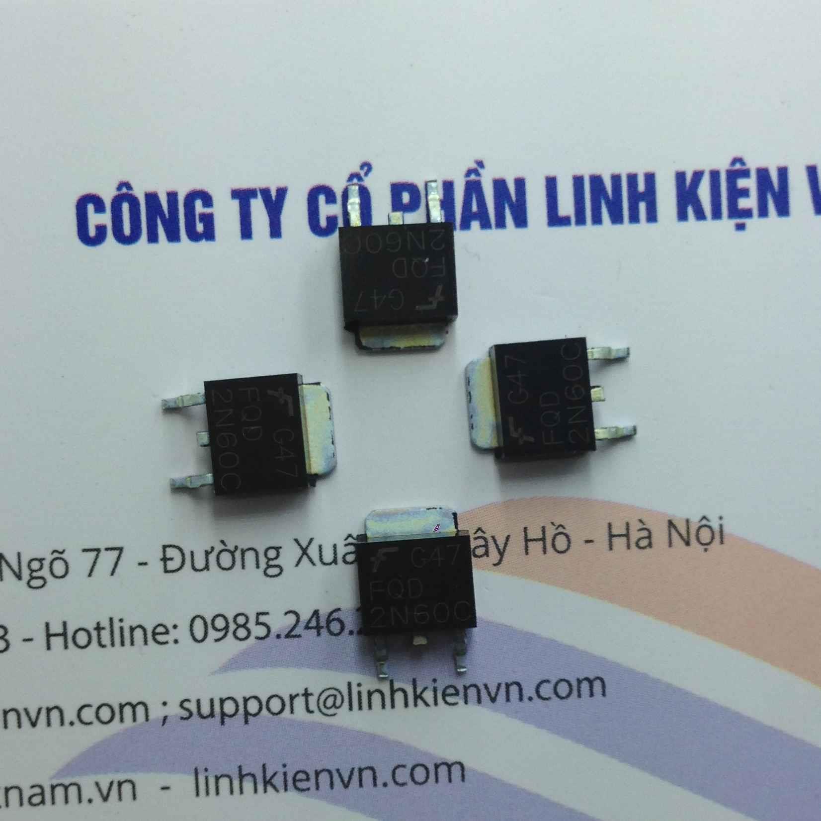 Mosfet kênh N 2N60 600V 2A - F10H13