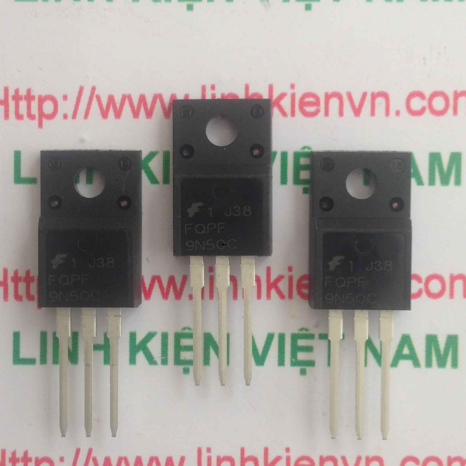 Mosfet Kênh N FQPF9N50C 500V 9A - TO220 - B7H16
