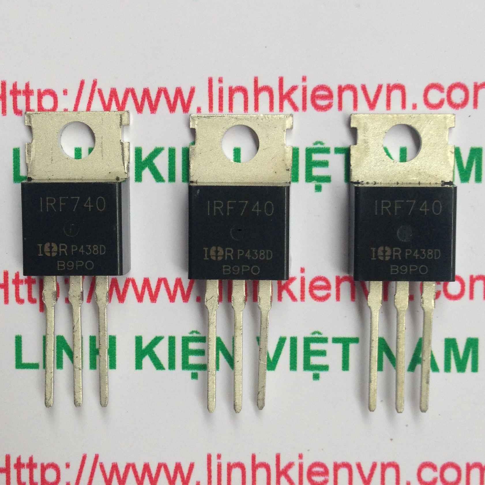 Mosfet Kênh N IRF740 400V 10A chính hãng - B7H12