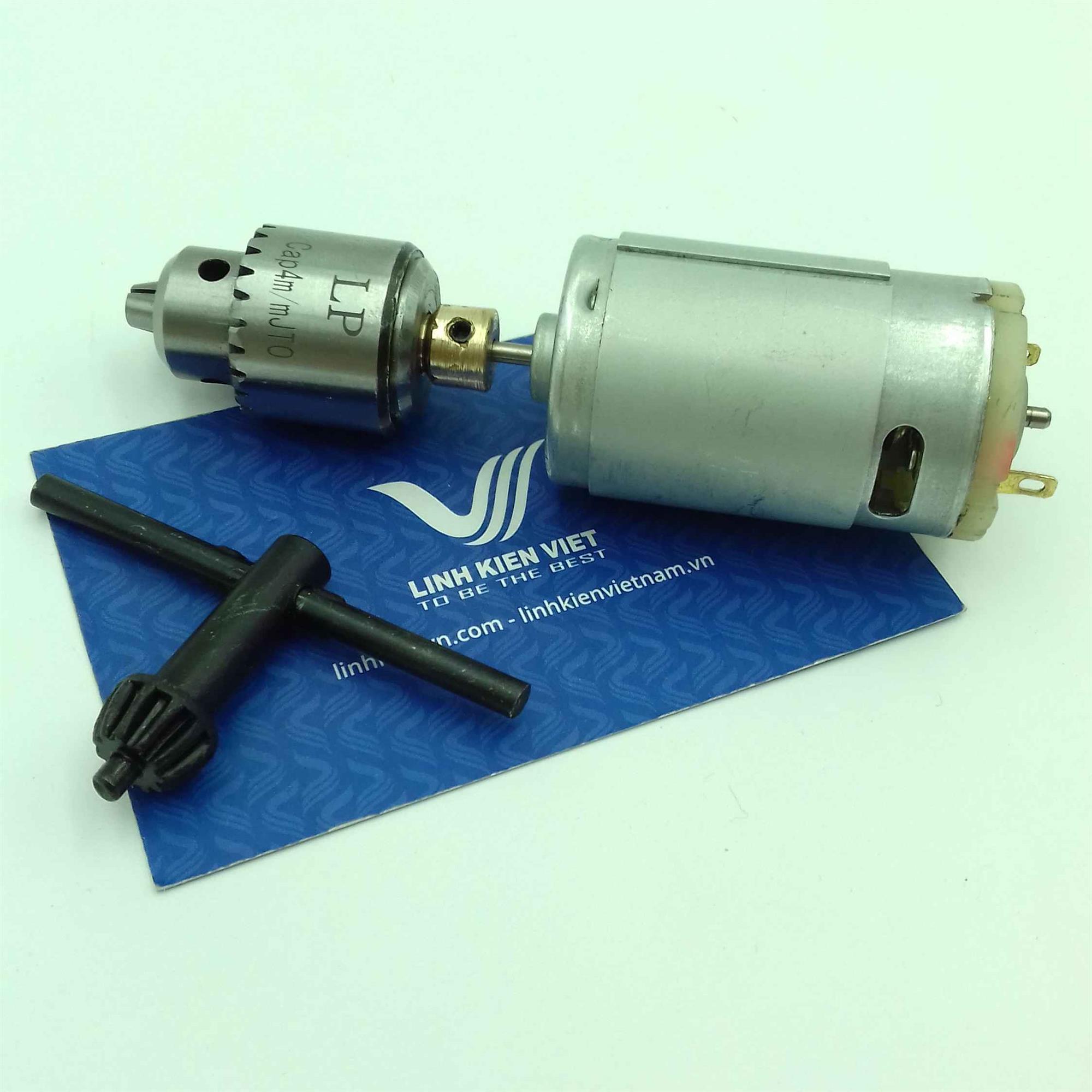 Motor khoan mạch 12V 0,3-4mm/ Khoan tay DC 12V / Khoan mạch DC 12V -