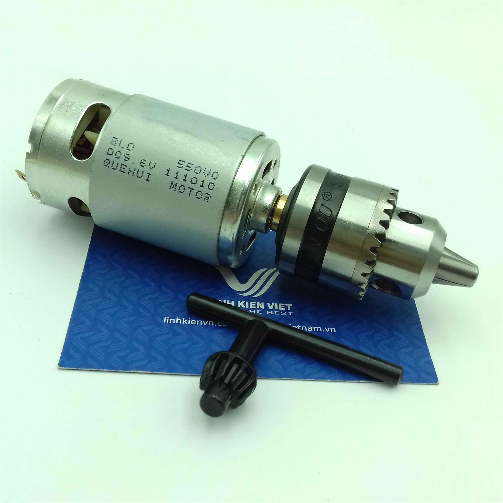 Motor khoan mạch 12V 550 / Khoan tay DC 12V sử dụng động cơ 550 / Khoan mạch DC 12V -